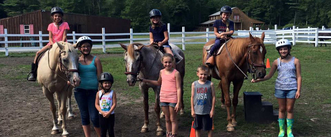 Looks like the horses weren't the only ones who had fun at our summer horse camp!